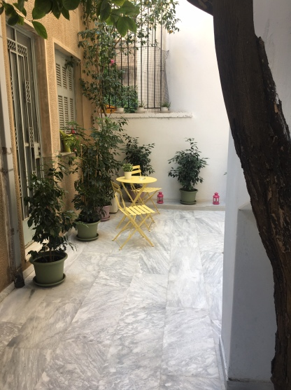 Our patio in Athens